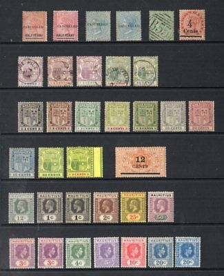 Mauritius: 1890s-1930s Small accum. (37) mint/unused/used