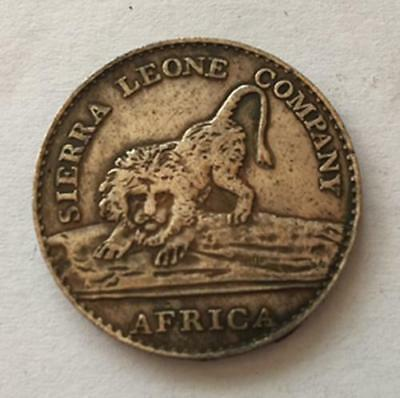 1791 Sierra Leone 50 Cents Sierra Leone Company Silver Coin 31mm
