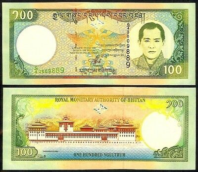 Bhutan 100 Ngultrum Nd(2000) P25 Uncirculated