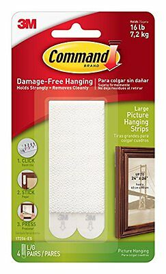 3M Command Picture Frame Hanging Adhesive Stickon Strips - Large