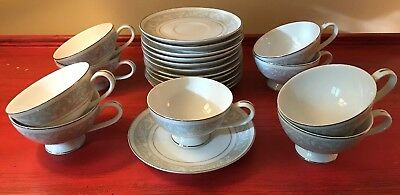Imperial China W Dalton Whitney Tea cup and saucer 9 cups 12 saucers