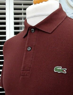 Lacoste Cinnamon Brown Pique Polo - M/L - Size 4 - Ska Mod Scooter Casuals Skins