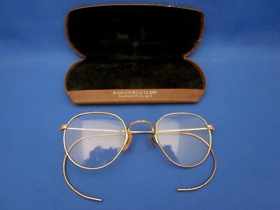 Vintage Bausch & Lomb Wire Rimmed Glasses 1/10 12K GF Ful Vue with Case