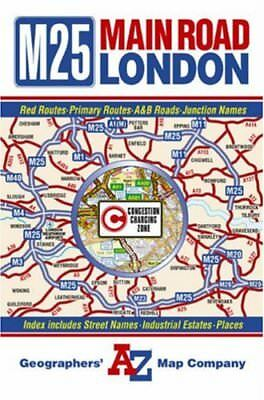 Main Road Map of London (Road Maps) by Geographers A-Z Map Company Paperback The