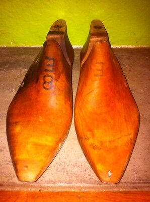 Wooden Shoe Lasts Size 8 E Pair From Old America Wide Foot Wood Molds Shoes
