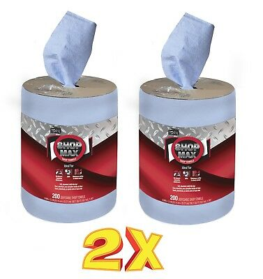 **2-PACK**   Tork 450338 ShopMax Wiper 450, Centerfeed Refill Shop Towels