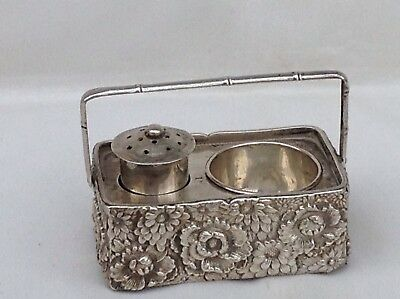 Antique Chinese Export Silver Cruet Set, Marked And Probably Made Around 1900