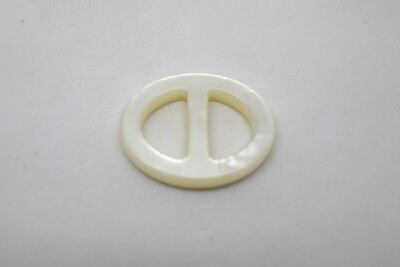 2pcs RARE BABY LITTLE OVAL BUCKLE SLIDERS 15mm BAR RESIN -MADE IN ITALY