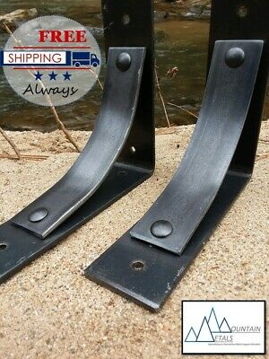 Metal Mantel Brackets Countertop supports Rustic Industrial Iron decorative
