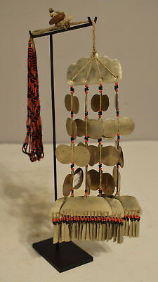Philippines Sipattal Silver Necklace Ineg Tribe Ceremonial Beaded Necklace