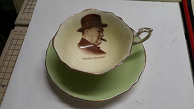 Paragon Teacup & Saucer - Patriot Series - Winston Churchill