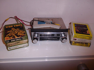 Vintage Classic Car Stereo 8 Track Player Stereo 8 Radiomobile With Cassettes