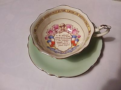 Paragon  Teacup & Saucer - Patriotic Series - Famous Quotations In The Cause Of