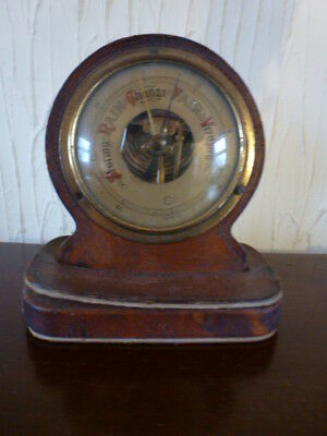 Small leather barometer