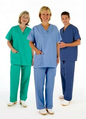 NHS Scrub Suit Set (Tunic & Trousers) Medical Compliant Reversible Hospital