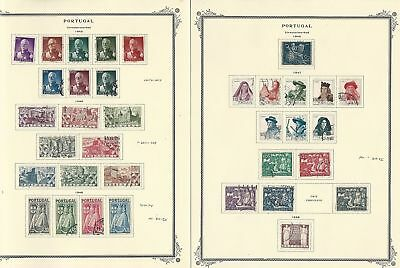 Portugal Collection 1945-1956 on 6 Scott Specialty Pages