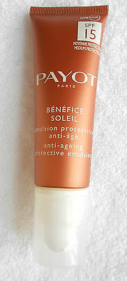 PAYOT BÉNÉFICE SOLEIL 50 ml émulsion protectrice anti-age SPF 15 env. 50 € Neuf