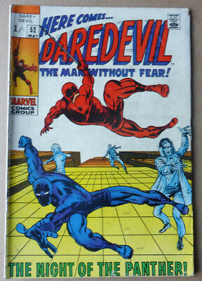 Daredevil #52, 'the Night Of The Panther', Silver Age, 1969.