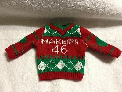 MAKERS MARK UGLY CHRISTMAS SWEATER BRAND NEW BOTTLE SWEATER 750 ml WHISKEY LAST7