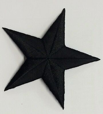 """3"""" Embroidery Iron On Black Star Applique Patch"""