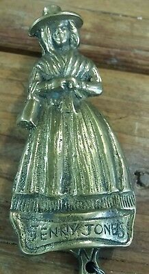 Vintage Jenny Jones Welsh Lady  Brass Door Knocker Welsh Brass Door Knocker