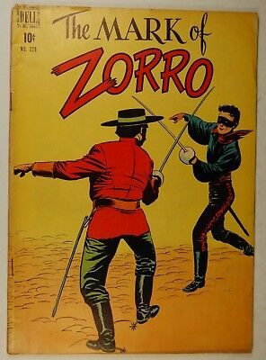 Four Color #228 - The Mark of Zorro (May 1949, Dell) Don Diego Seeks Justice