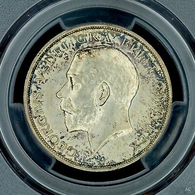 1/2 Half Crown 1915 PCGS MS64 Great Britain BU UNC Silver Great Toning
