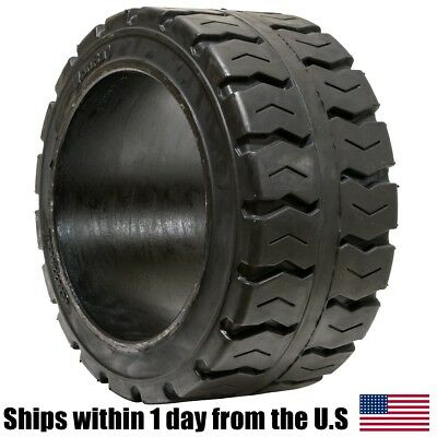 18X7X12-1/8 Solid Puncture Proof Press-On Traction Forklift Tire 18712