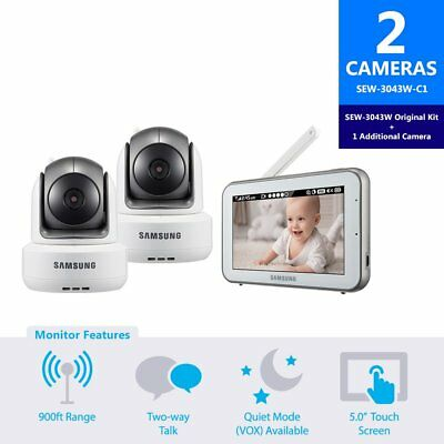 Samsung Sew-3043W-C1 Brightview Hd Baby Video Monitoring System Ir Night Vision