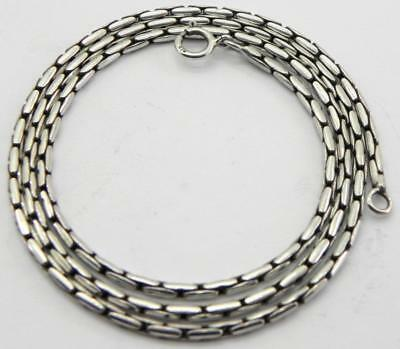 Long Vintage Solid Silver Necklace, 22 inches, 19gr.