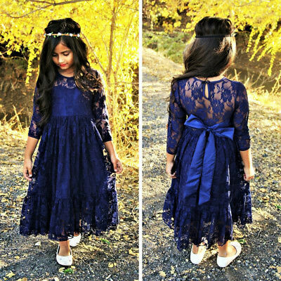 AU Stock Kids Baby Girls Lace Tutu Princess Party Dress Formal Outfits Clothes