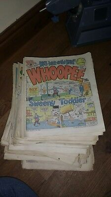 Whoopee comic job lot of 1980s copies
