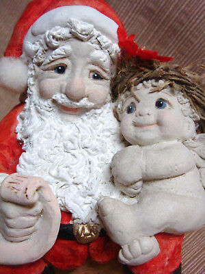 1991 SANTA & CHERUB Retired DREAMSICLES by KRISTIN