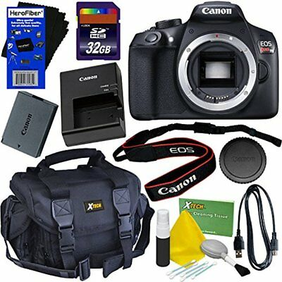 Canon EOS Rebel T6 Digital SLR Camera (Body Only) + 32GB Accessory Kit