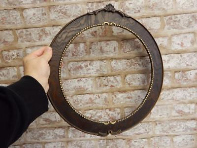 "really old picture frame victoriana FITS 12 inch 12 "" round painting"
