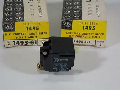 Lot Of 2 New In Box Allen Bradley Auxiliary Contact Block 1495-G1 Ser. L