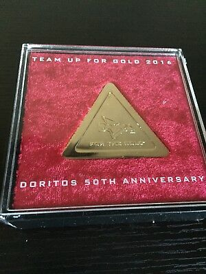 Doritos Chip Replica Gold Colored 50th Anniversary Edition  Fun Unique Gag Gift