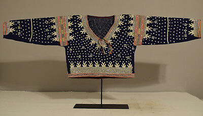 Philippines Blouse Albong Bilaan People Mother of Pearl Sequin Blouse 1960's