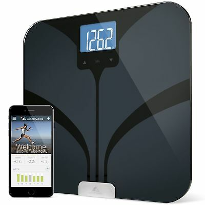 Weight Gurus Bluetooth Smart Connected Body Fat Scale Backlit LCD SYNC FitBit