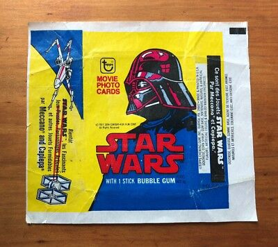 "1977 Topps ""Star Wars - Series 2"" - Canadian Issue Wax Pack Wrapper - Rare"