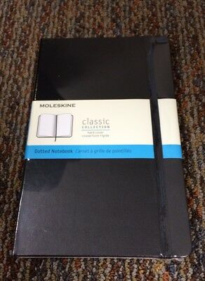 "Moleskine 5"" x 8 1/4"" Dotted Notebook With Black Hard Cover- New And Sealed"