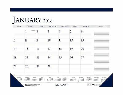 House of Doolittle 2018 Monthly Desk Pad Calendar Classic With Notes Section ...