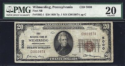 1929  Wilmerding, Pennsylvania - Charter #5000 PMG Graded and problem free!