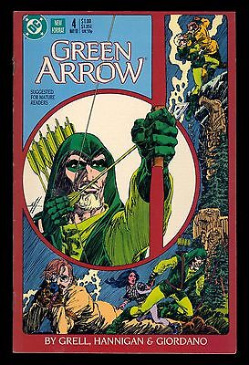 GREEN ARROW #4 VF DC 1987 NEW FORMAT ARROW 1st. SERIES MIKE GRELL MATURE READERS