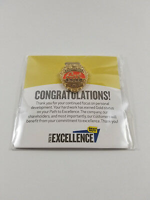 Geek Squad Official Best Buy Path To Excellence Training Badge Medallion Gold