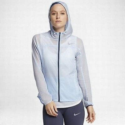NWT NIKE REPEL Impossibly Light Womens Packable Hydrogen Blue Running Jacket MED