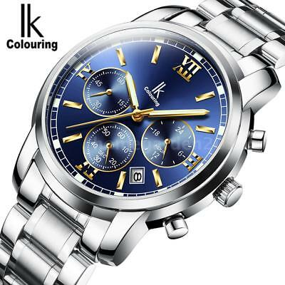 High Quality New Casual IKColouring Men's Analog Quartz Wrist Watches T7Y5