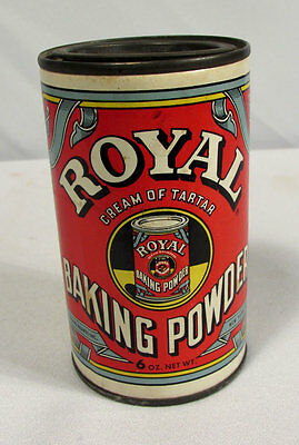Vintage Royal Baking Powder Cream of Tartar Tin w/ Contents