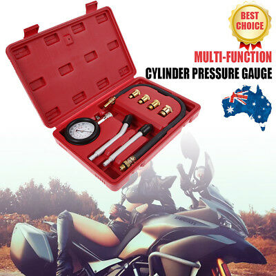 Petrol Engine Compression Test Time Gauge Tester Kit For Automotive Car Tool AU