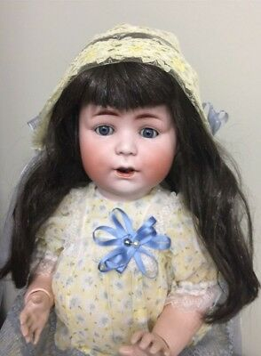 """Antique Bisque Character Doll By Simon & Halbig ' JUTTA ' On A Comp Body 19"""""""